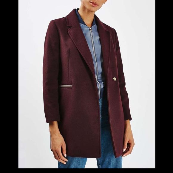 Topshop Slim Fit Boyfriend Coat